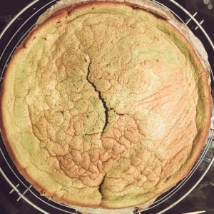 Matcha-Mousse-Torte Chiffon-Kuchen