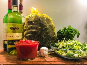 Zutaten für Muscheln in Tomatensauce