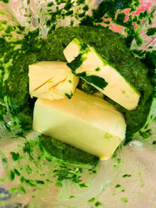 selbstgemachte Bärlauch-Butter