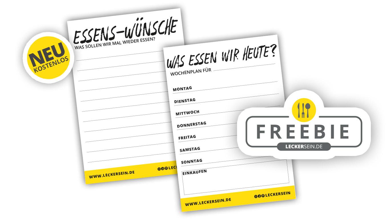 Freebie: Dein Küchenplan mit Wunschzettel und Wochenplaner